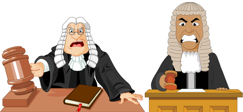 Two Irate Looking Judges