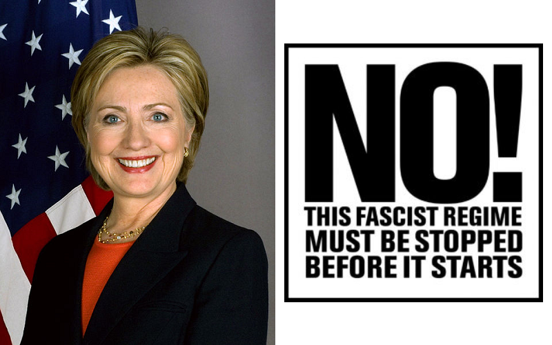 HillaryClintonNoToFascism