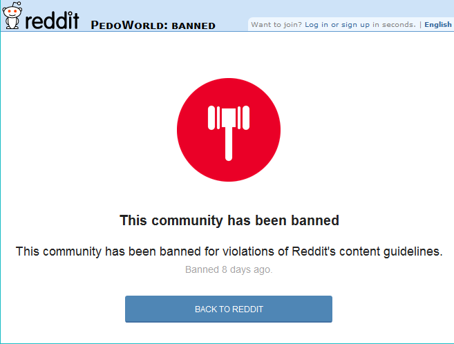 Reddit Bans /r/PedoWorld and /r/PedoCity the Day After MHN Article